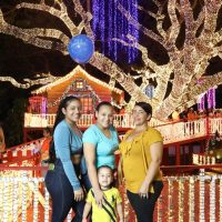 Casita de Santa y Árbol Navidad en Alcaldía Santiago recibe miles de personas diariamente