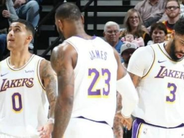 Dueto de Anthony Davis y LeBron James marcan victoria de Lakers sobre Utah