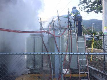 EDENORTE trabaja en solución avería en subestación Puerto Plata