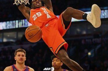Volcadas y triples imposibles en el juego de las estrellas emergentes NBA