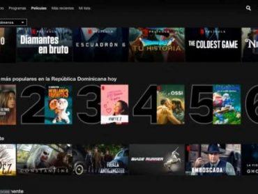 Netflix mostrará el top 10 de las series, películas y programas más vistos cada día en RD